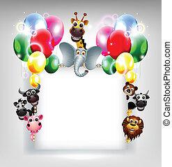 decorazione, palloni, lei, disegno