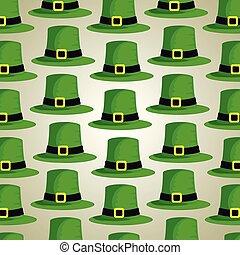 decorazione, patrick, cappello, fondo, st