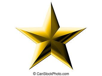 decorazione, stella oro