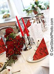 decorazione, tavola, festivo