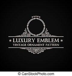 decorazione, vendemmia, elemento, elegante, vettore, calligraphic, logo.