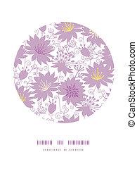 decorazione, viola, modello, florals, fondo, uggia, cerchio