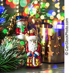 decorazioni natale, con, multicolor, luci