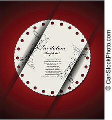 decoretive, kaart, uitnodiging