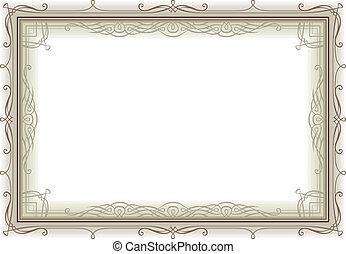 decoretive vintage frame