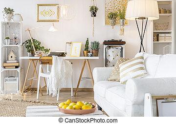 decors, appartamento, oro