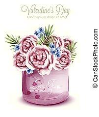 decors, zomer, card., bouquetten, lente, trouwfeest, watercolor, rozen, delicaat, vector., uitnodiging, sparen, date.