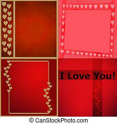 Decortative Page of Valentine Card Patterns