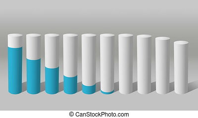 Decrease economic graph. Cylinder 1 - Decrease economic...