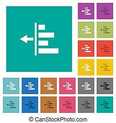 Decrease left indentation of content square flat multi ...
