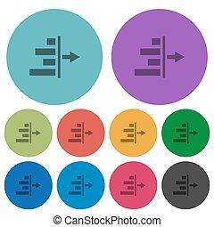 Decrease right indentation of content color darker flat ...