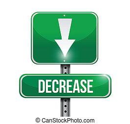 decrease road sign illustration design