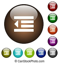 Decrease text indentation color glass buttons - Decrease ...
