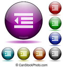 Decrease text indentation icon in glass sphere buttons - ...