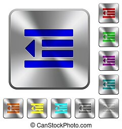 Decrease text indentation rounded square steel buttons - ...