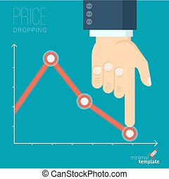 Decreasing business graph