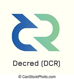 Decred (DCR). Vector illustration crypto coin ico