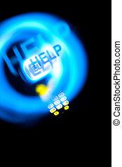 dect, telefon, mit, licht, spuren