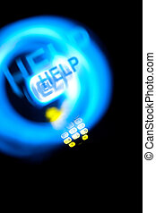 dect, telefon, spuren, licht