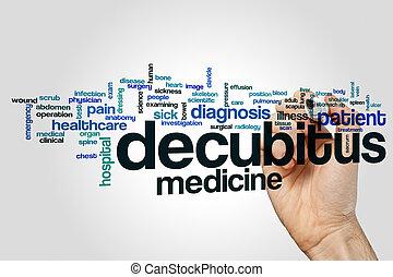 Decubitus word cloud concept on grey background