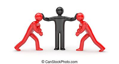 decyzja, intermediary, konflikt