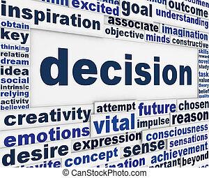 decyzja, wiadomość, tło