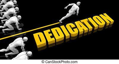 dedicação, líder