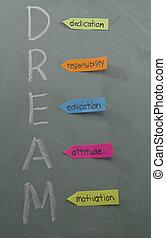 dedicación, responsabilidad, educación, actitud, motivación