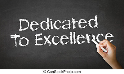 dedicado, a, excelencia, tiza, ilustración