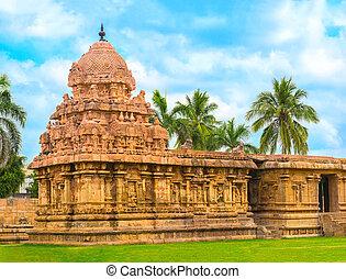 dedicado, antiguo, india, hindú, nadu, shiva, thanjavur,...