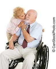 dedicado, par velho