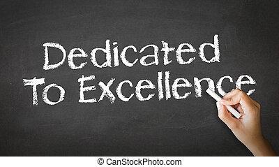 dedicado, para, excelência, giz, ilustração