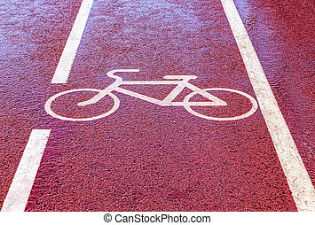 Bike lane with road symbol