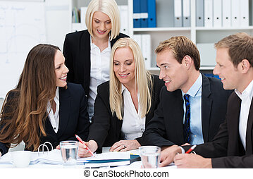 Dedicated business team having a discussion