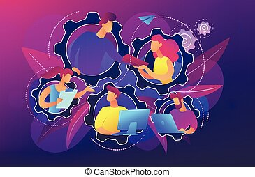 Dedicated team it concept vector illustration