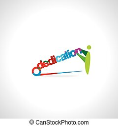dedication concept - colorful dedication holding by peoples...