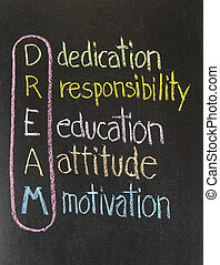 dedication responsibility education attitude motivation