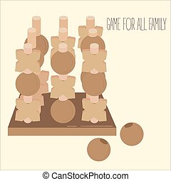 dedo del pie, de madera, estrategia, junta del partido, tac, 3 d, tic