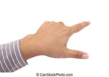 dedo humano, apontar