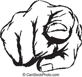 dedo que señala