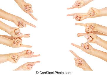 dedos, apontar