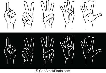 dedos, mãos