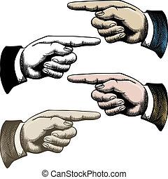 dedos, señalar