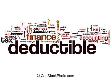 Deductible word cloud concept
