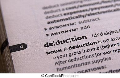 deduction word in open book