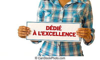 dedykował, doskonałość, (in, french)