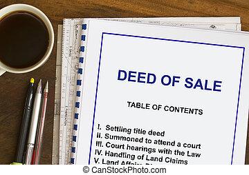 Deed of sale
