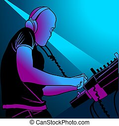Deejay 02 - Coloured illustration.