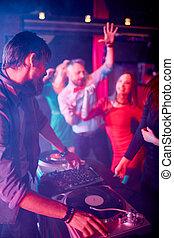 Deejay at disco