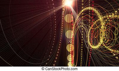 deeltje, illustratie, lichten, ontwerp, achtergrond, futuristisch